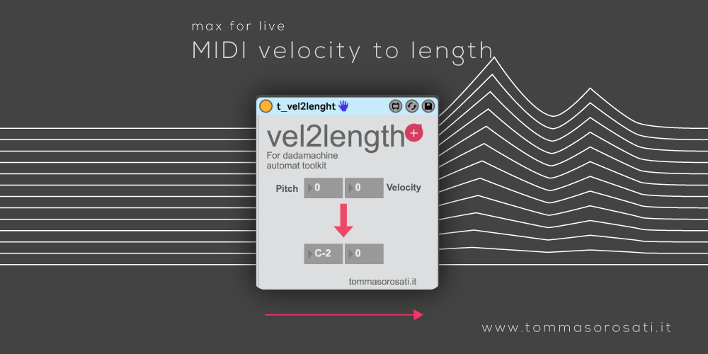 midi velocity to length maxforlive device