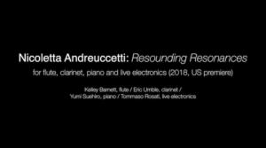 Nicoletta Andreuccetti Resounding Resonances